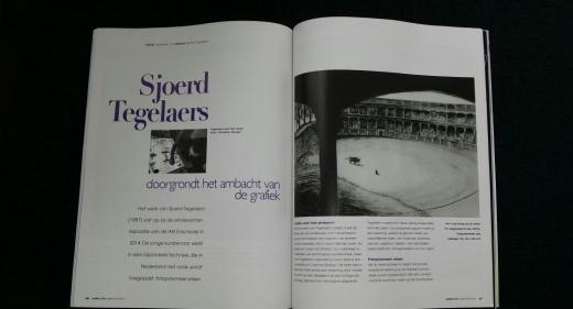 Artiekel Sjoerd Tegelaers in Palet