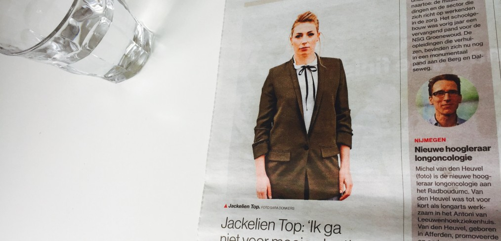 Jackelien Top in de Gelderlander