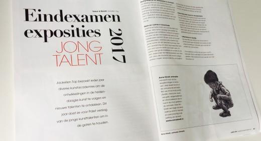 Artikel door Jackelien Top: Jong Talent voor Palet Magazine